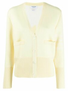 Thom Browne 4-bar Dolphin Icon V-neck Cardigan - Yellow