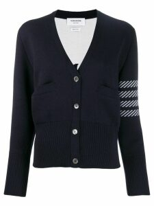 Thom Browne 4-Bar Dolphin Embroidered Cardigan - Blue