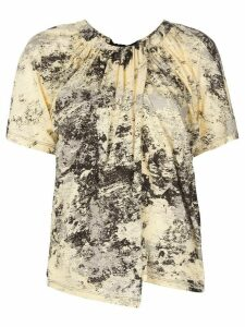 Proenza Schouler Foil Printed Overlapped T-Shirt - Yellow