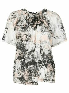 Proenza Schouler Foil Printed Overlapped T-Shirt - White