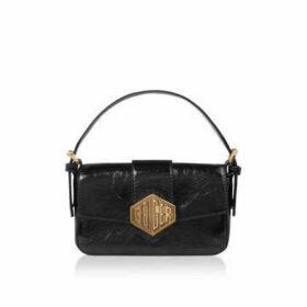 Kurt Geiger London Geiger 20 Mini Bag - Patent Black Mini Shoulder Bag