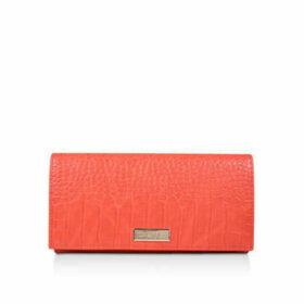Carvela Kareless - Orange Croc Print Clutch Bag