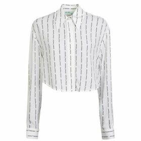 Off White Stripe Logo Shirt
