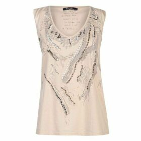 Marc Aurel Embellished V Neck Top