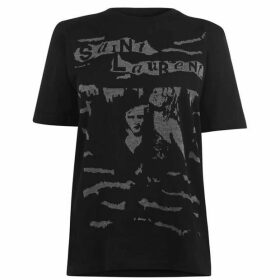 Saint Laurent Oversized Jacquard T Shirt