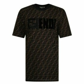 Fendi All Over Logo T Shirt