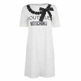 Boutique Moschino Logo T Shirt Dress