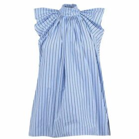 Victoria by Victoria Beckham Stripe Sleeveless Blouse