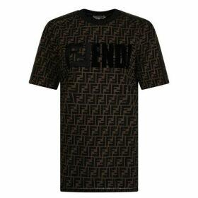 Fendi All Over Logo T Shirt