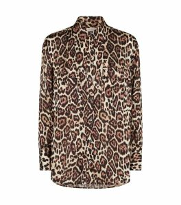 Jaguar Print Satin Shirt