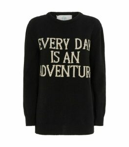 Oversized Cashmere Slogan Sweater