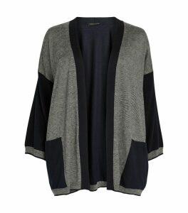 Contrast Sleeve Cardigan