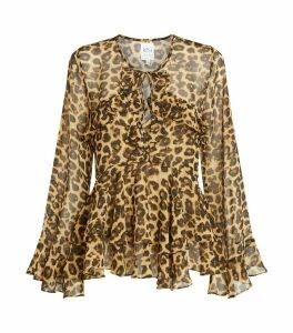 Damaris Leopard Print Blouse