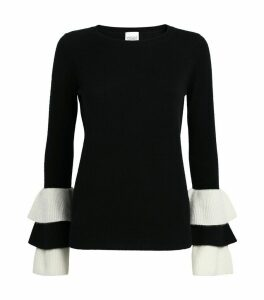 Frilled Sleeve Sweater