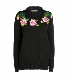 Tropical Rose Knit Sweater