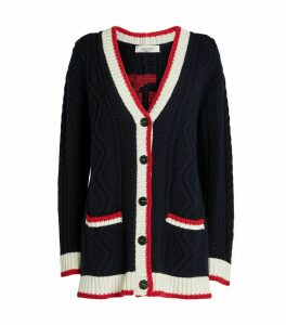 Signature Embroidered Cardigan