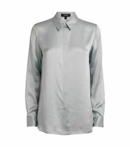 Classic Straight Satin Shirt