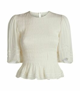 Shirred Janette Top