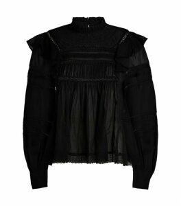 Cotton Viviana Ruffle Shirt