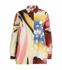 Abstract Print Oversized Shirt
