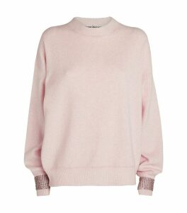 Crystal-Embellished Cuffs Sweater
