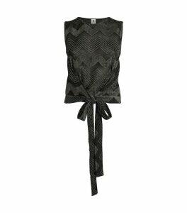 Lurex Tie Waist Top