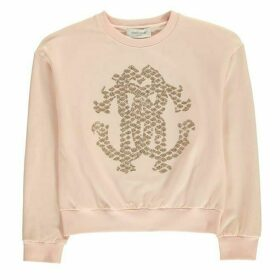 Roberto Cavalli Sequin Logo Sweater