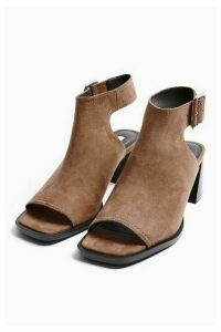 Womens Daisy Taupe Buckle Shoe Boots - Taupe, Taupe