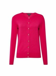 Womens Hot Pink Cardigan, Pink