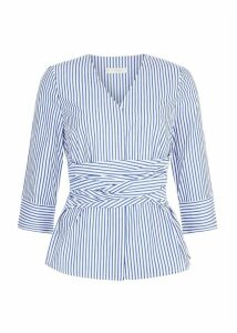 Helena Top Blue White
