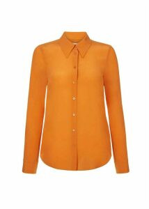 Athena Silk Blouse Orange