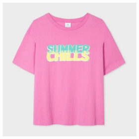 Women's Pink 'Summer Chills' Print T-Shirt