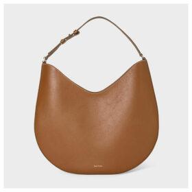 Women's 'Half Moon' Tan Leather Hobo Bag