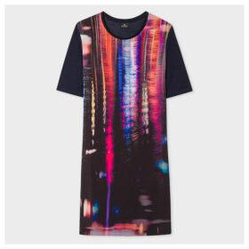 Women's Navy 'Puddle Reflection' Print Jersey Dress
