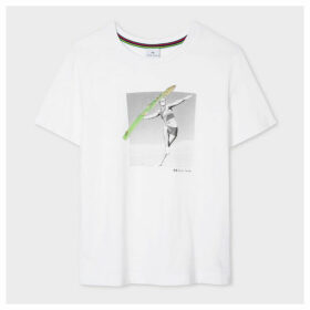 Women's 'Asparagus Javelin' Print Cotton T-Shirt