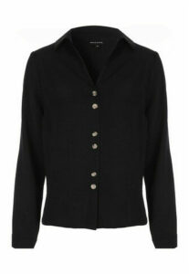 Womens Black Button Through Shirt