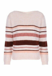 Womens Pink Stripe Jumper