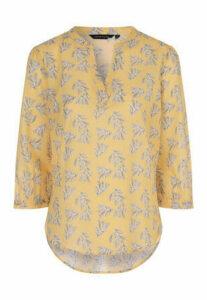 Womens Mustard Floral Shirt