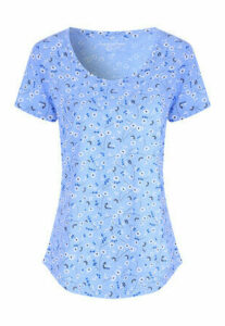 Womens Blue Floral T-Shirt