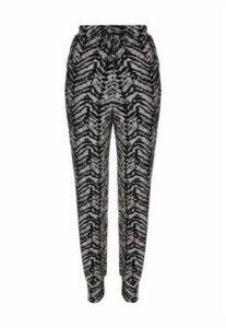 Womens Monochrome Snow Yarn Pyjama Trousers