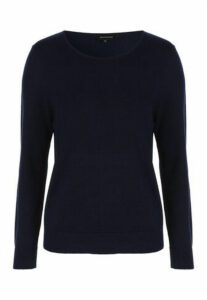 Womens Navy Crew Neck Jumper