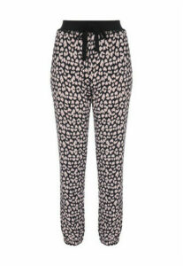 Womens Animal Print Soft Touch Pyjama Trousers