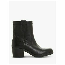 Bertie Pacer Leather Block Heeled Ankle Boots