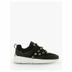 Dune Extraa Jewel Strap Trainers, Black