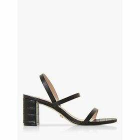 Dune Marta Leather Triple Strap Sandals