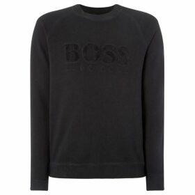 Boss Garment Dye Boucle Logo Sweatshirt