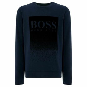 Boss Wolflike Flocked Logo Sweatshirt