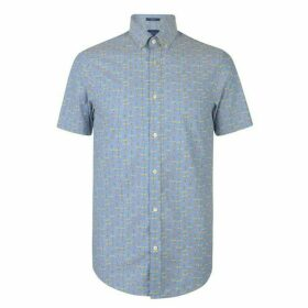 Gant Short Sleeve All Over Print Shirt Mens
