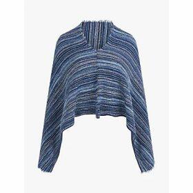 Brora Cashmere Stripe Purl Poncho