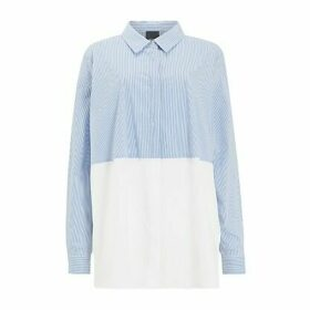 Persona by Marina Rinaldi Balsa Stripe Shirt, White/Blue
